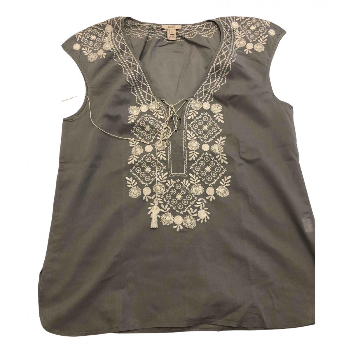 J.crew - Top   pour femme en coton - gris