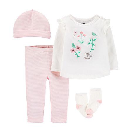 Carter's Baby Girls 4-pc. Pant Set, 9 Months , White