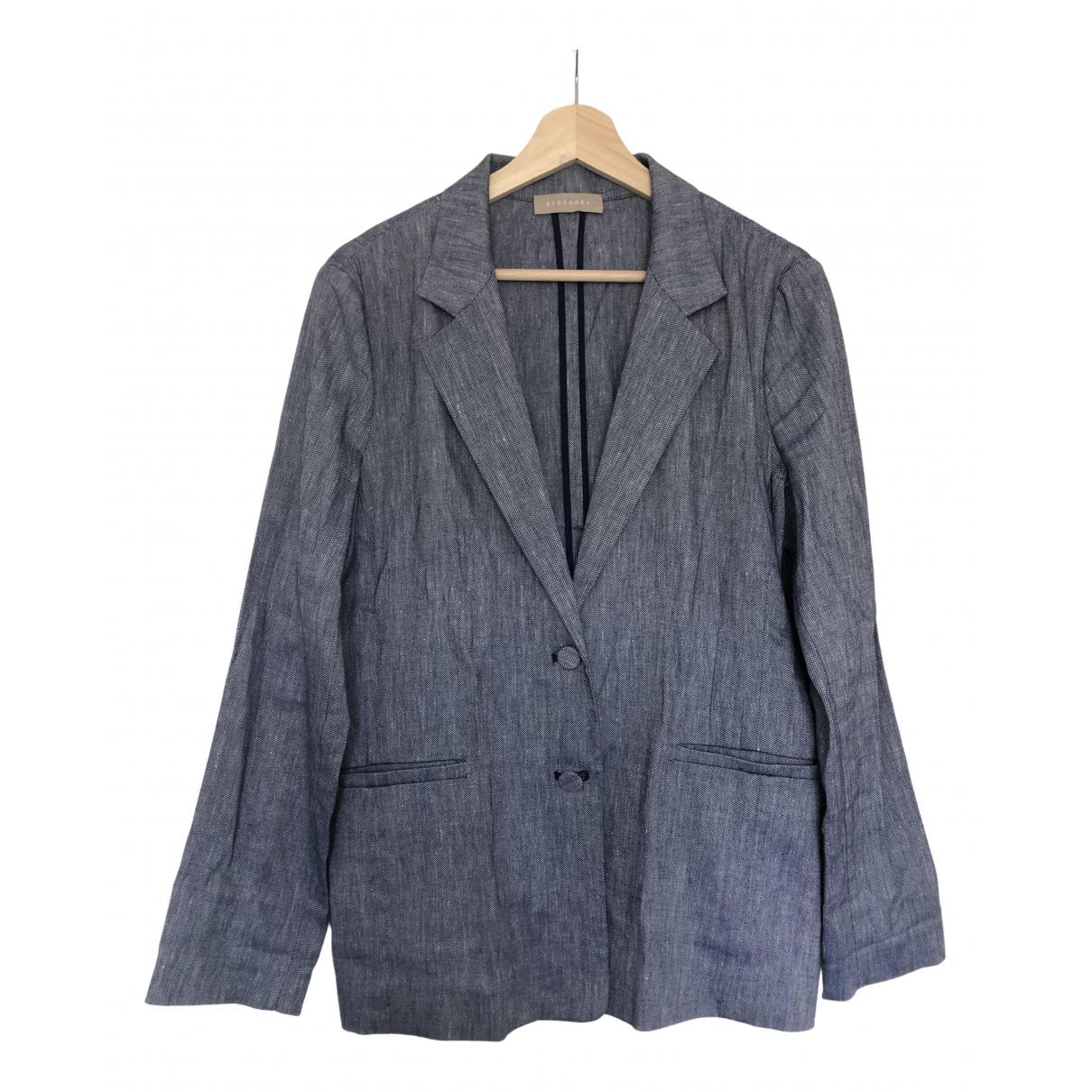 Stefanel \N Blue Linen jacket for Women 10 US