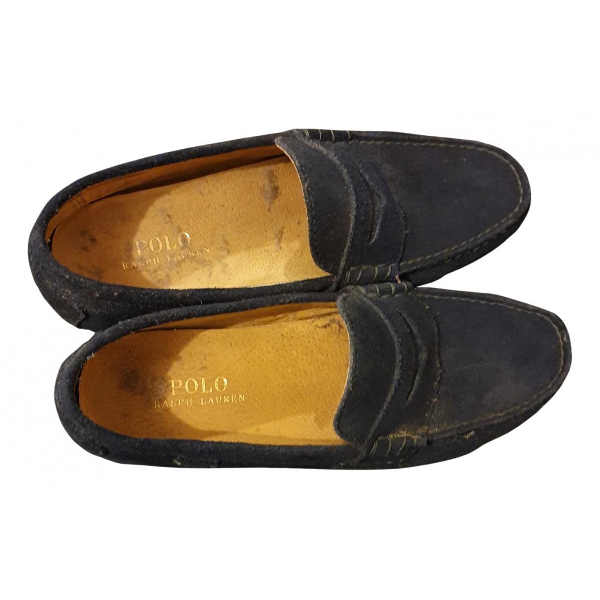 Polo Ralph Lauren N Blue Velvet Flats for Men 42 EU