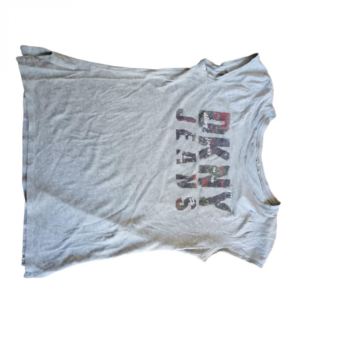 Dkny - Top   pour femme en coton - gris