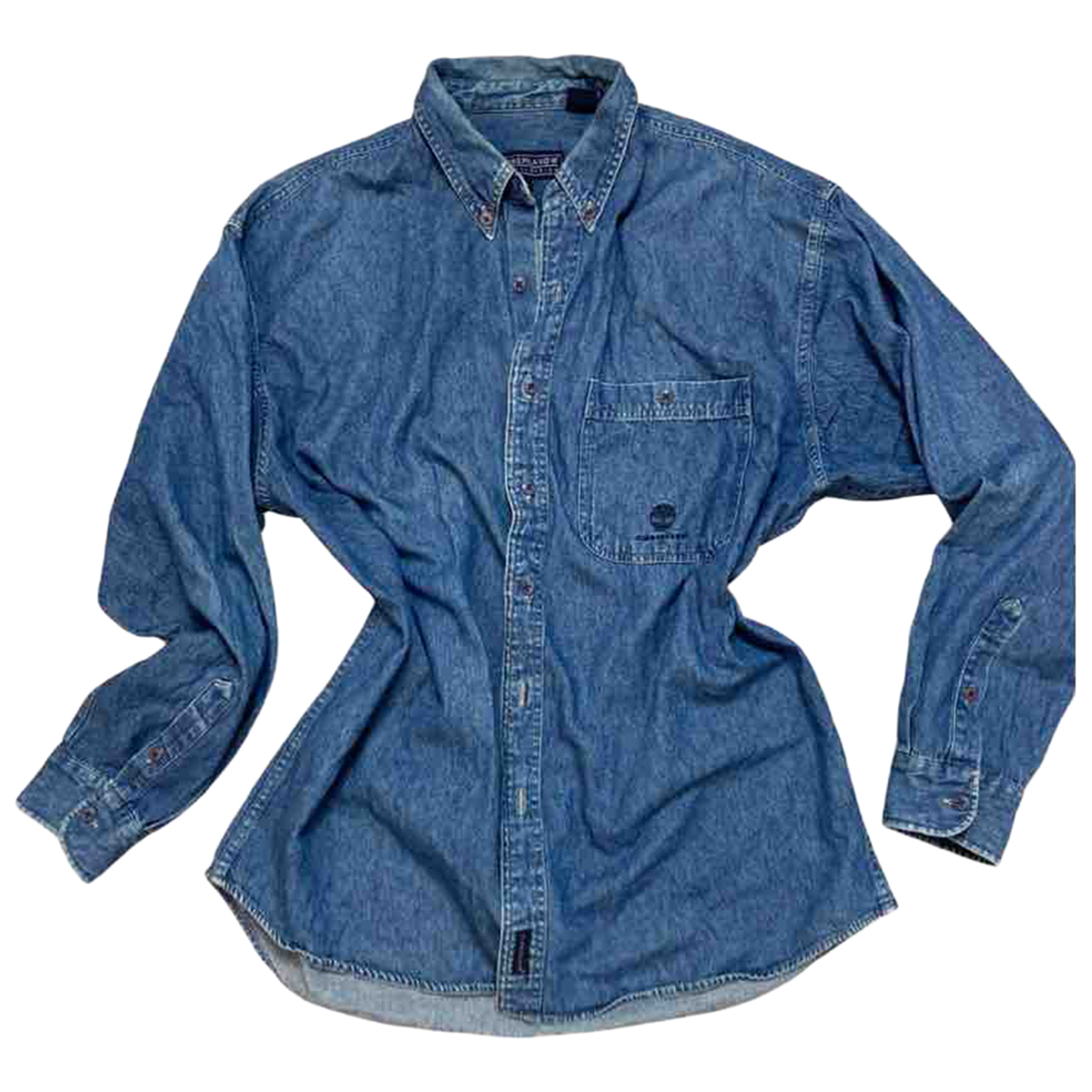 Timberland - Top   pour femme en coton - bleu