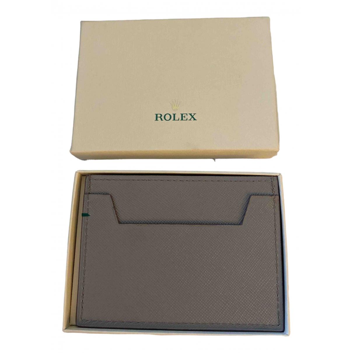 Rolex - Petite maroquinerie   pour homme en cuir - gris