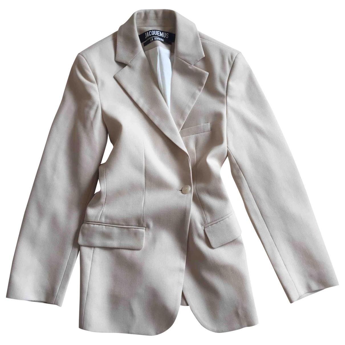 Jacquemus - Veste La Riviera pour femme en laine - beige