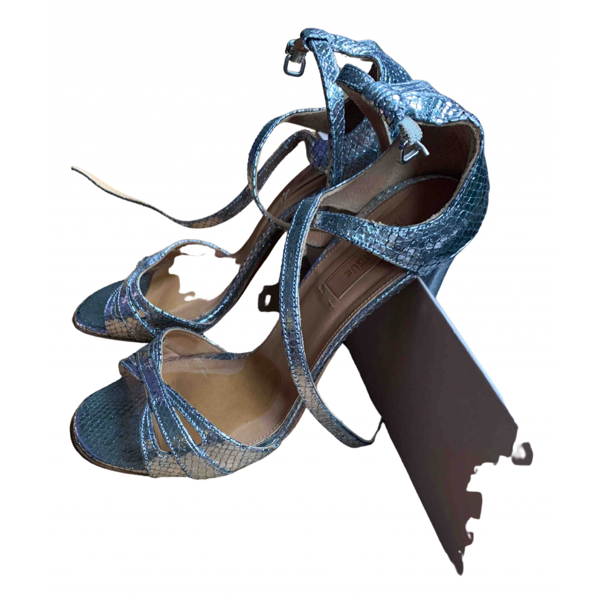 Uterque \N Sandalen in  Silber Leder