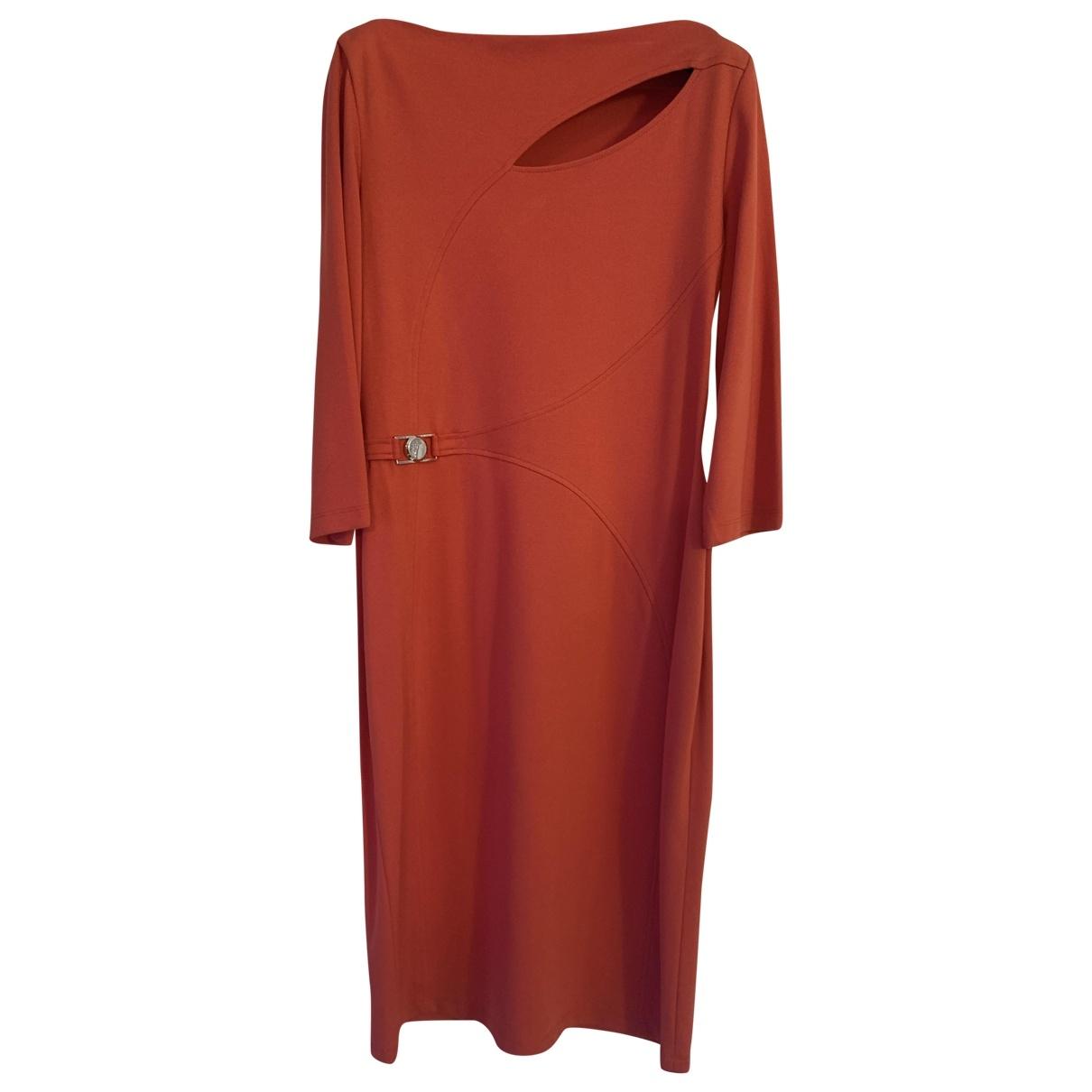 Versace \N Kleid in  Rot Viskose
