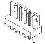 Molex , KK 254, 6373, 5 Way, 1 Row, Straight PCB Header (10)