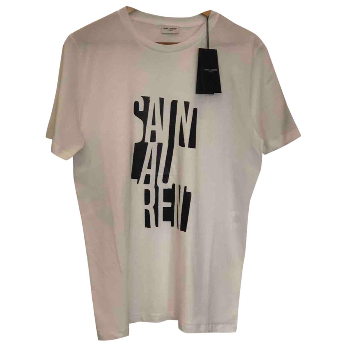 Saint Laurent - Tee shirts   pour homme en coton - blanc
