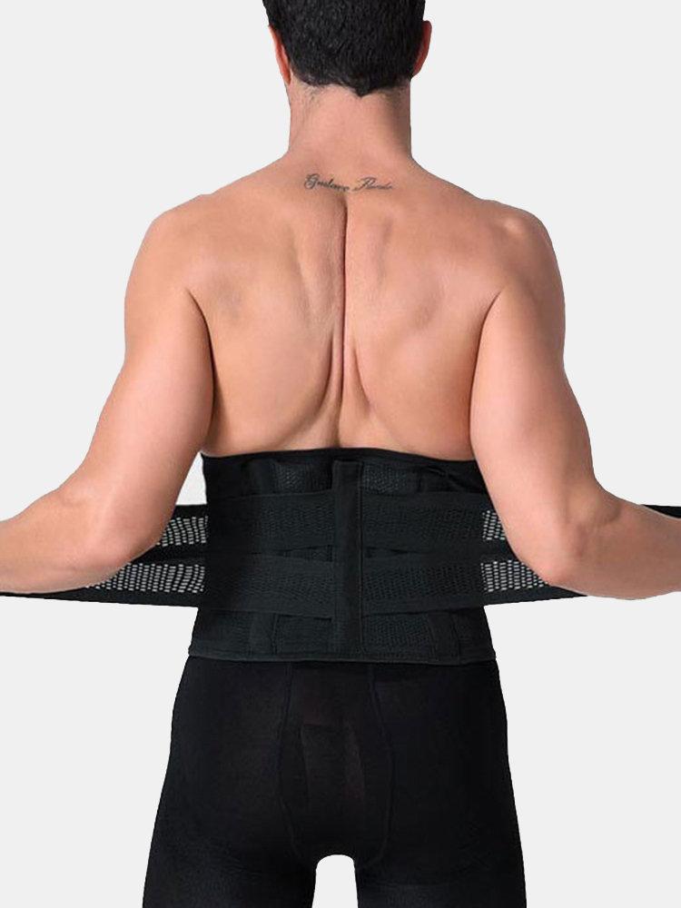 Mens Adjustable Waist High Elasticity Tummy Tuck Belt Safety Sports Fitness Body Shapewear