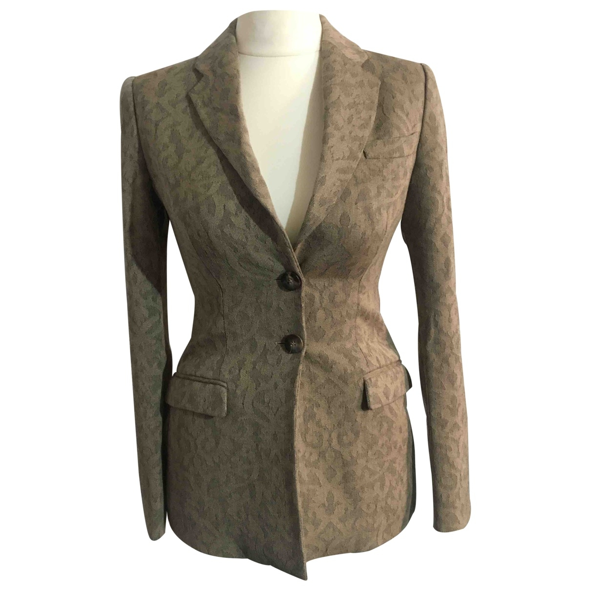 Armani Collezioni \N Anthracite Wool jacket for Women 38 FR