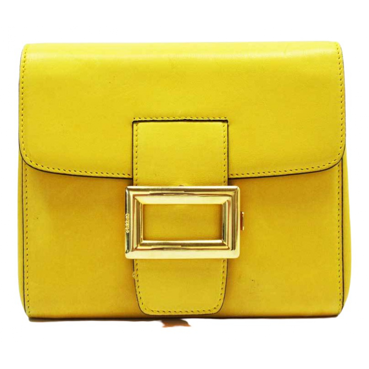 Prada \N Clutch in  Gelb Leder