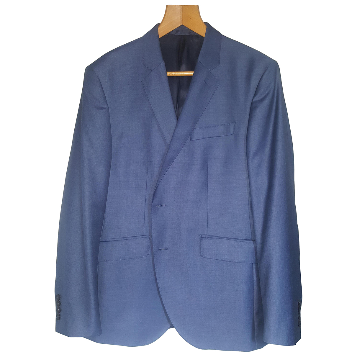 Hackett London \N Anzuege in  Blau Wolle