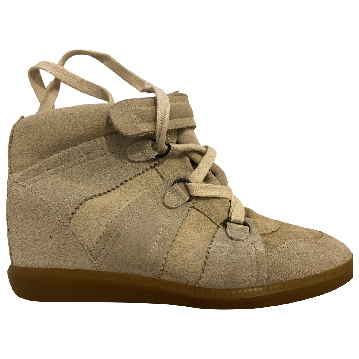 Isabel Marant Bobby Beige Suede Trainers for Women 40 EU