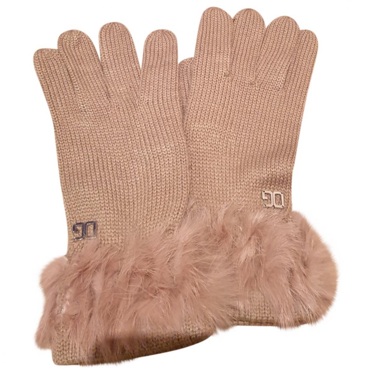 Dolce & Gabbana \N Beige Wool Gloves for Women M International