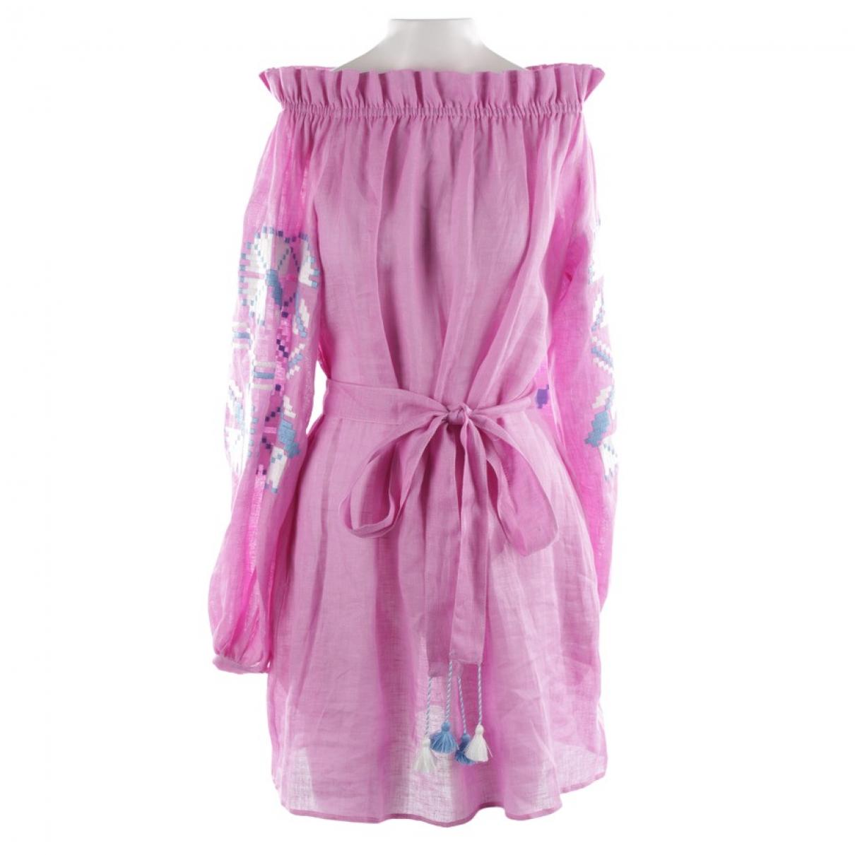 March11 \N Kleid in  Lila Leinen