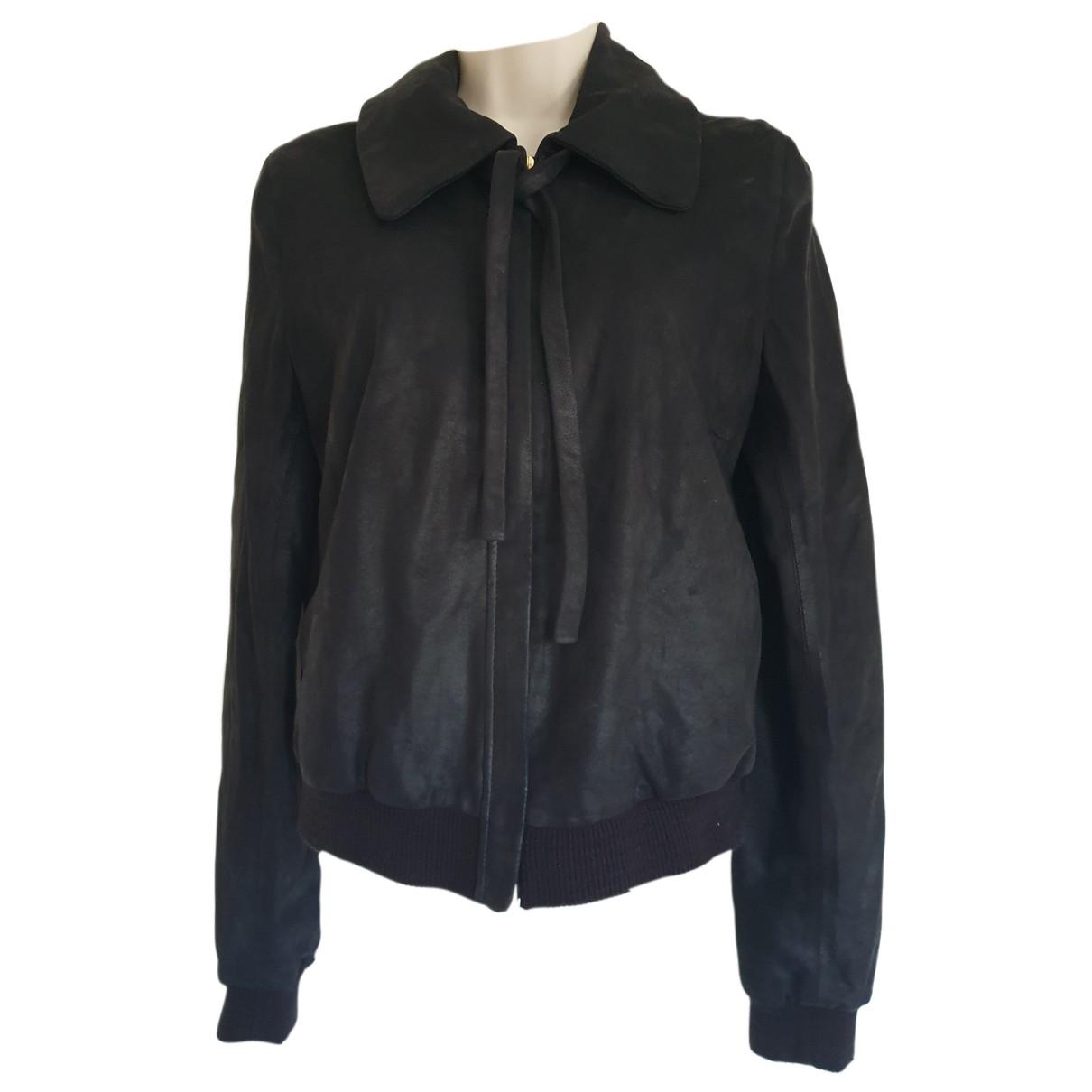 Joseph N Black Leather jacket for Women 38 IT