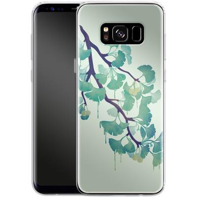 Samsung Galaxy S8 Silikon Handyhuelle - Ginko Green von Little Clyde