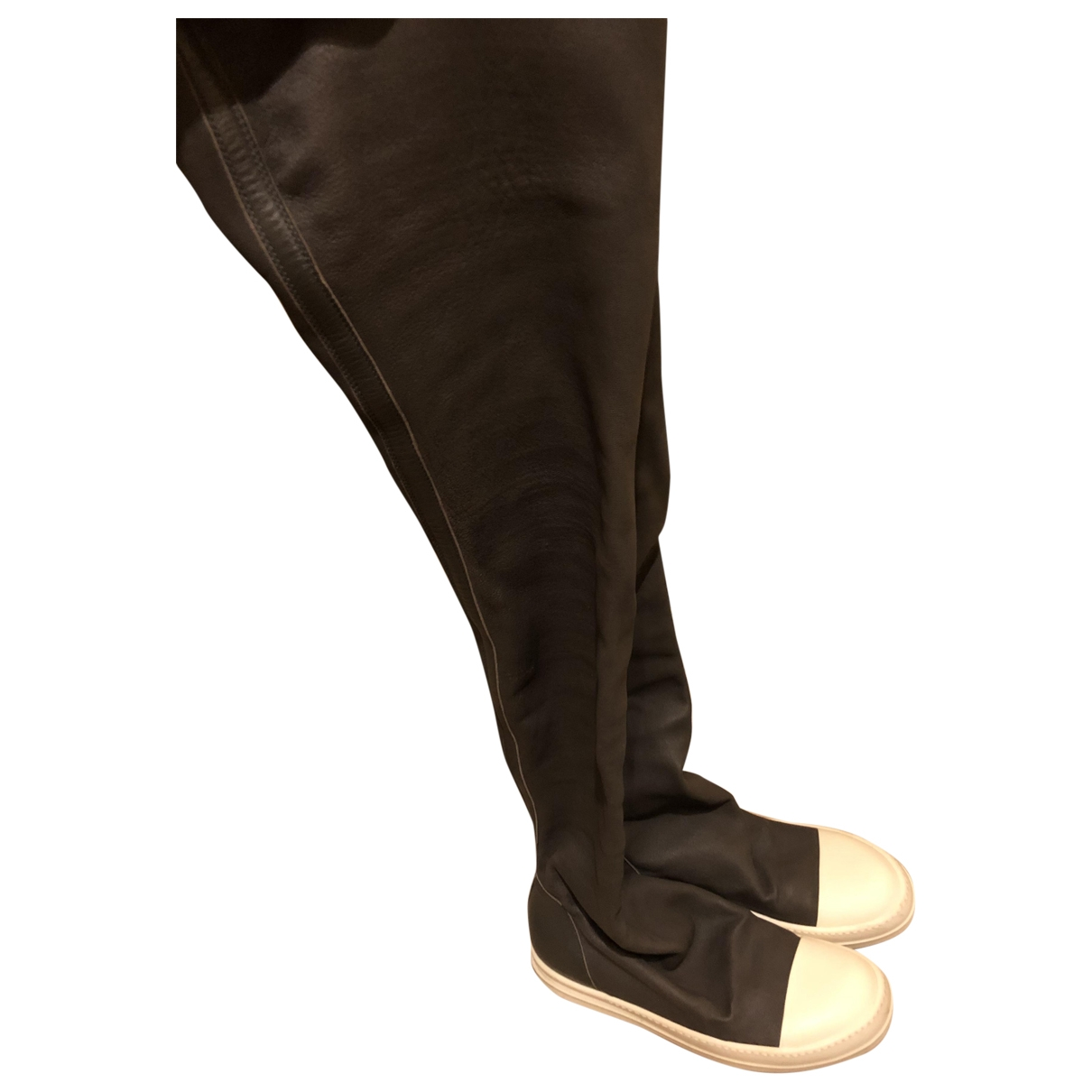 Rick Owens \N Grey Leather Boots for Women 37 EU