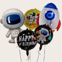 5 piezas set de globo con astronauta