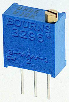 Bourns 100Ω, Through Hole Trimmer Potentiometer 0.5W Top Adjust , 3296