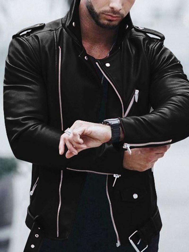 Ericdress Standard Lapel Plain Winter OL Leather Jacket