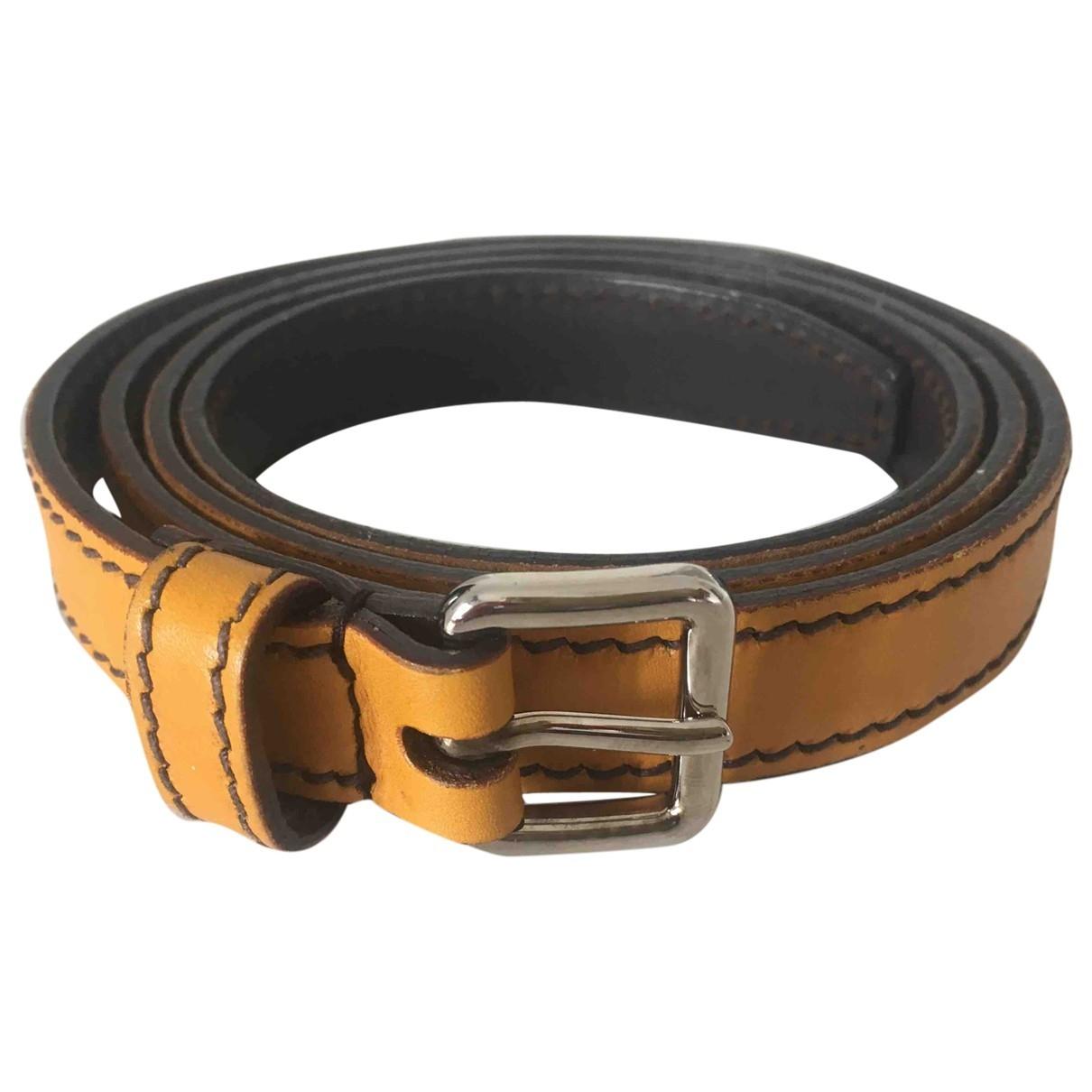 Prada \N Yellow Leather belt for Women 85 cm