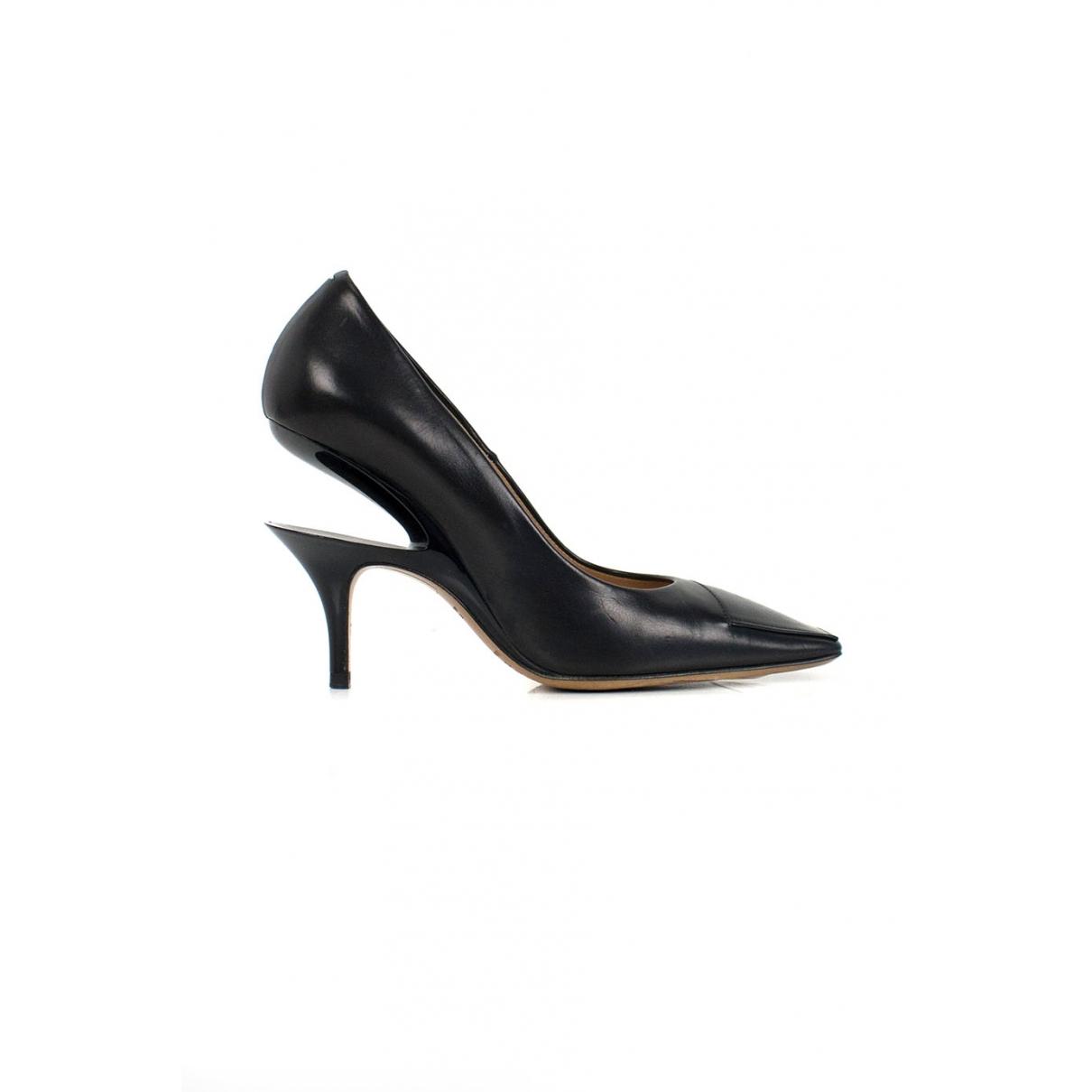 Maison Martin Margiela \N Black Leather Heels for Women 35 EU