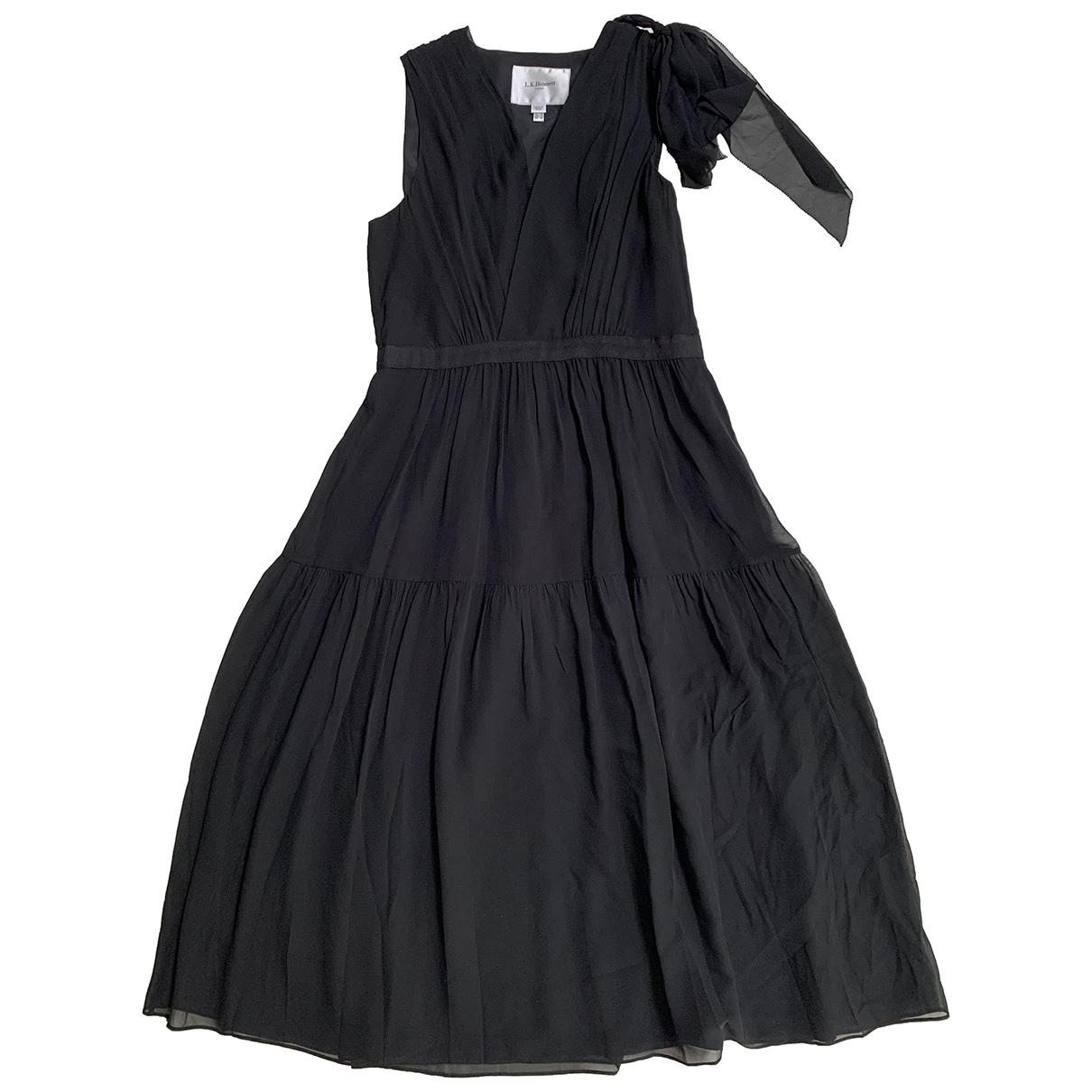 Lk Bennett \N Kleid in  Schwarz Seide