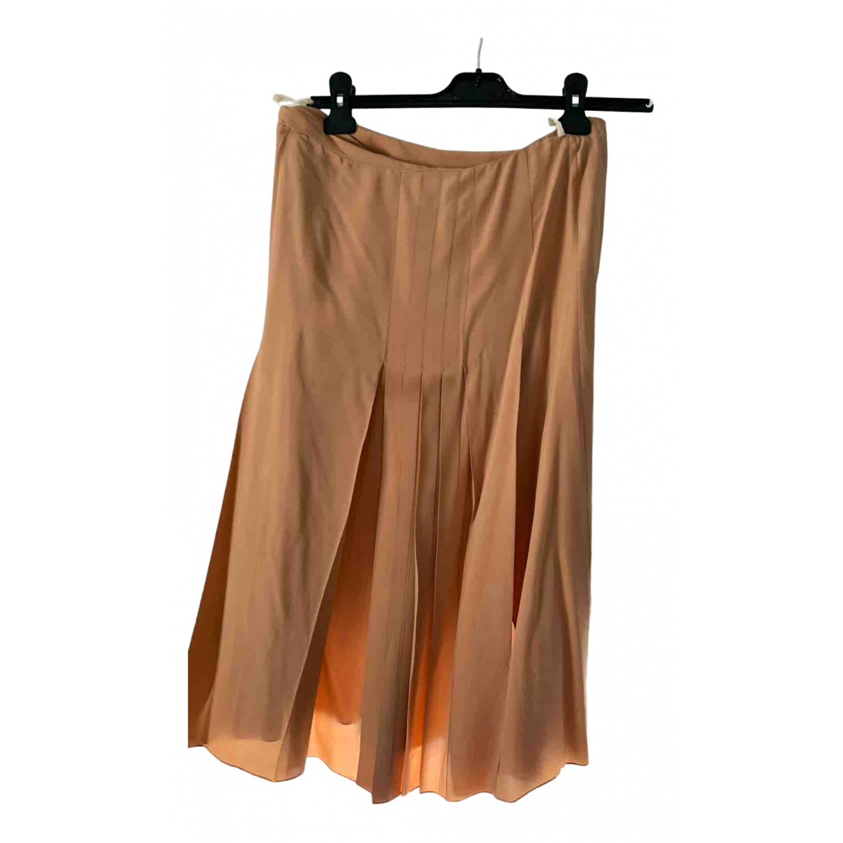 Celine N Orange Silk skirt for Women 38 FR