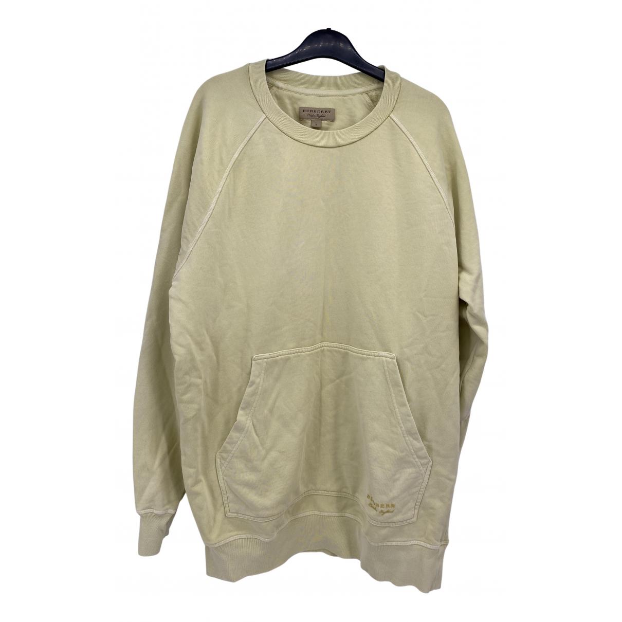 Burberry \N Pullover.Westen.Sweatshirts  in  Gelb Baumwolle