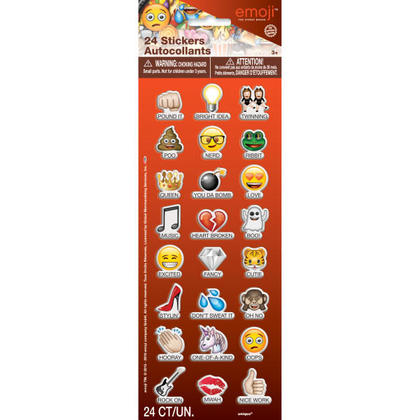 Emoji 1 Puffy Sticker Sheet/Favor