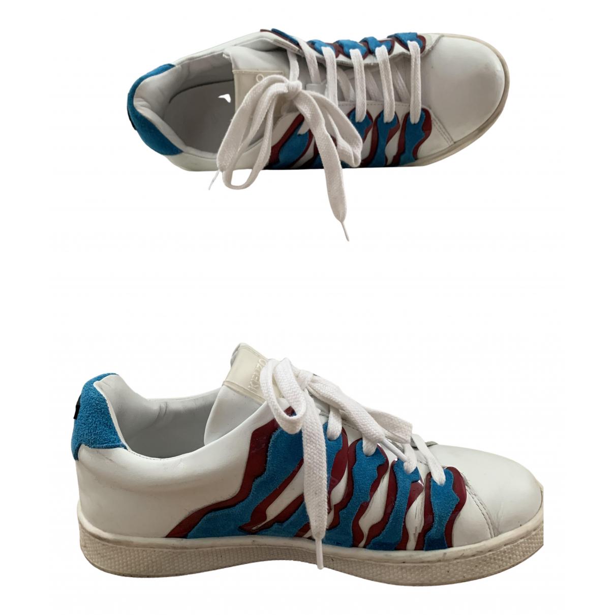 Kenzo \N Sneakers in  Weiss Leder