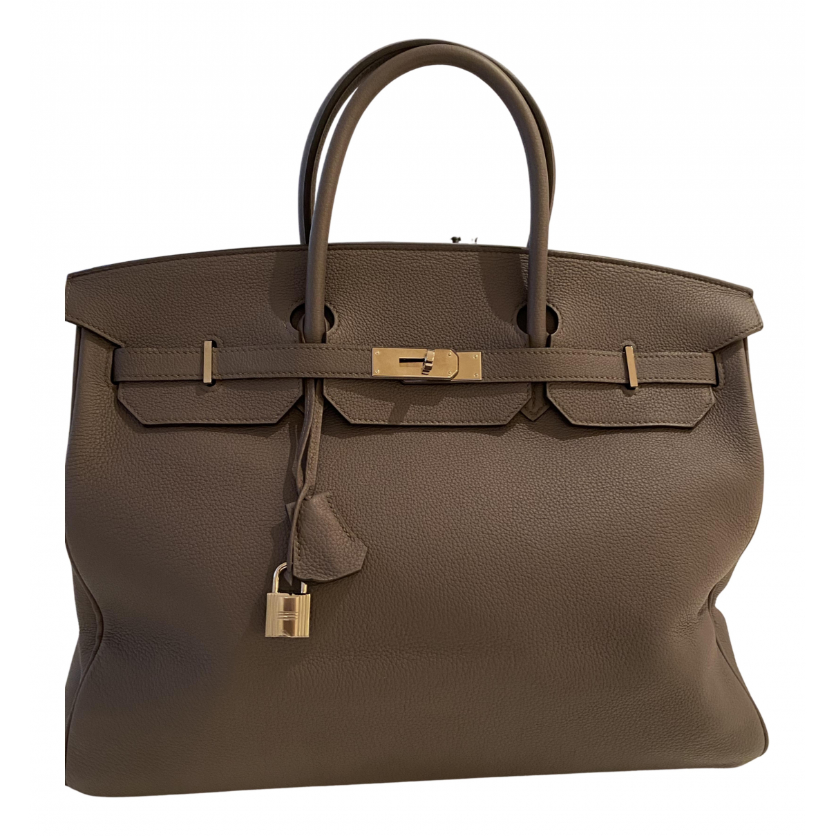Hermès Birkin 40 Grey Leather handbag for Women N