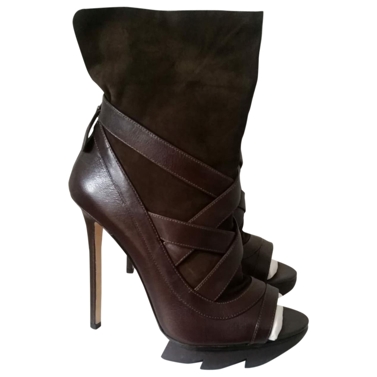 Camilla Skovgaard \N Brown Suede Ankle boots for Women 40.5 EU