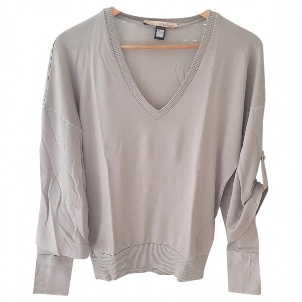 Class Cavalli - Pull   pour femme en laine - gris