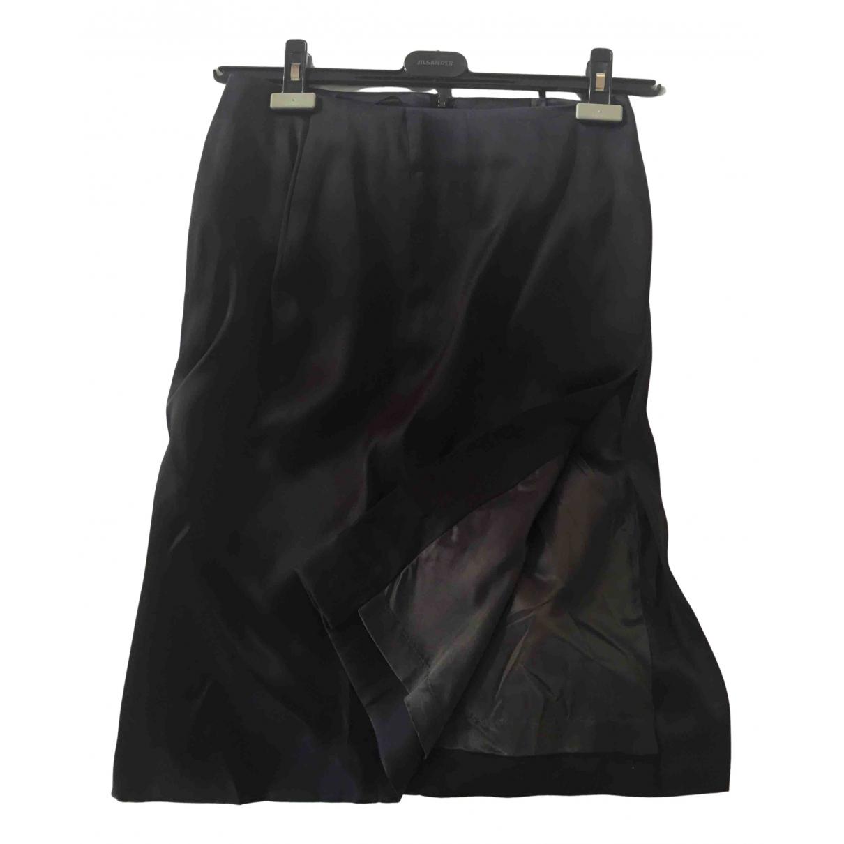 Jil Sander - Jupe   pour femme en soie - marine