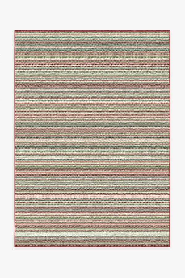 Washable Rug Cover & Pad | Multi Stripe Holiday Rug | Stain-Resistant | Ruggable | 5'x7'