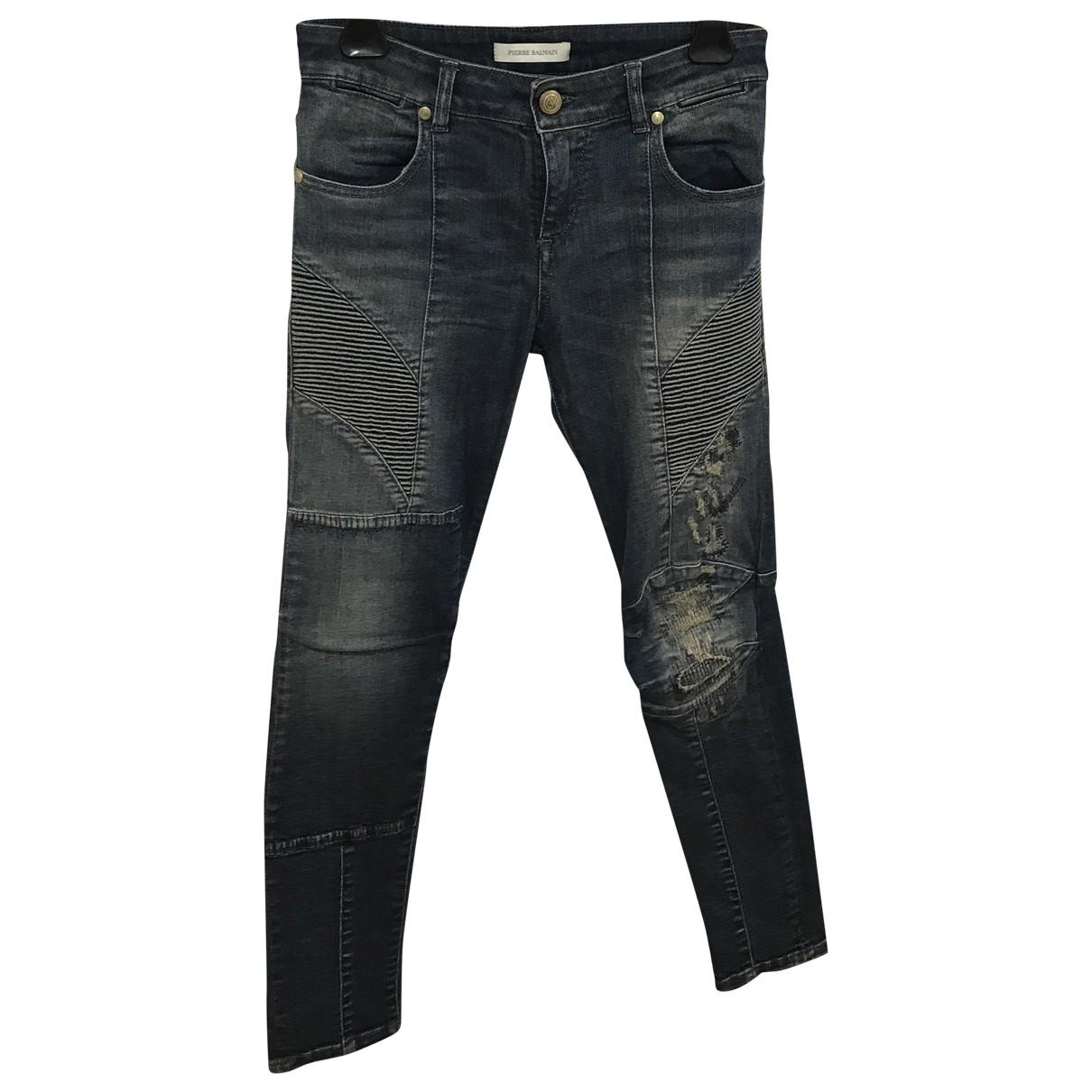 Pierre Balmain \N Blue Cotton Jeans for Women 25 US