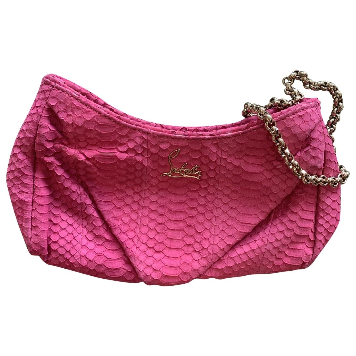 Christian Louboutin \N Pink Water snake handbag for Women \N