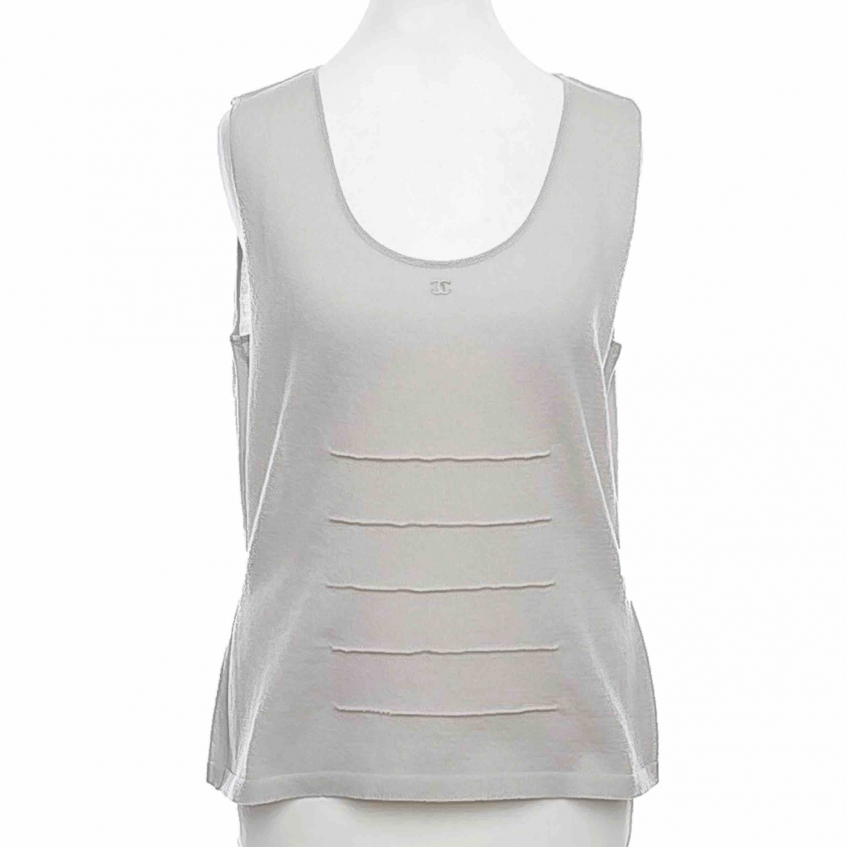 Chanel \N Grey Wool  top for Women 42 FR