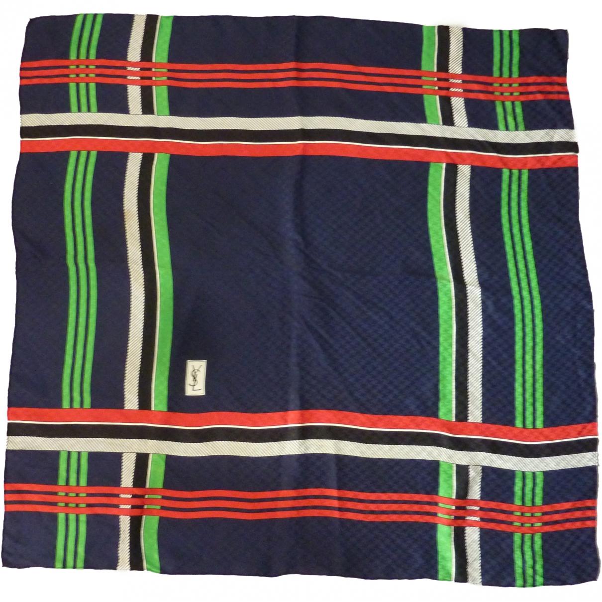 Yves Saint Laurent \N Blue Silk Silk handkerchief for Women \N