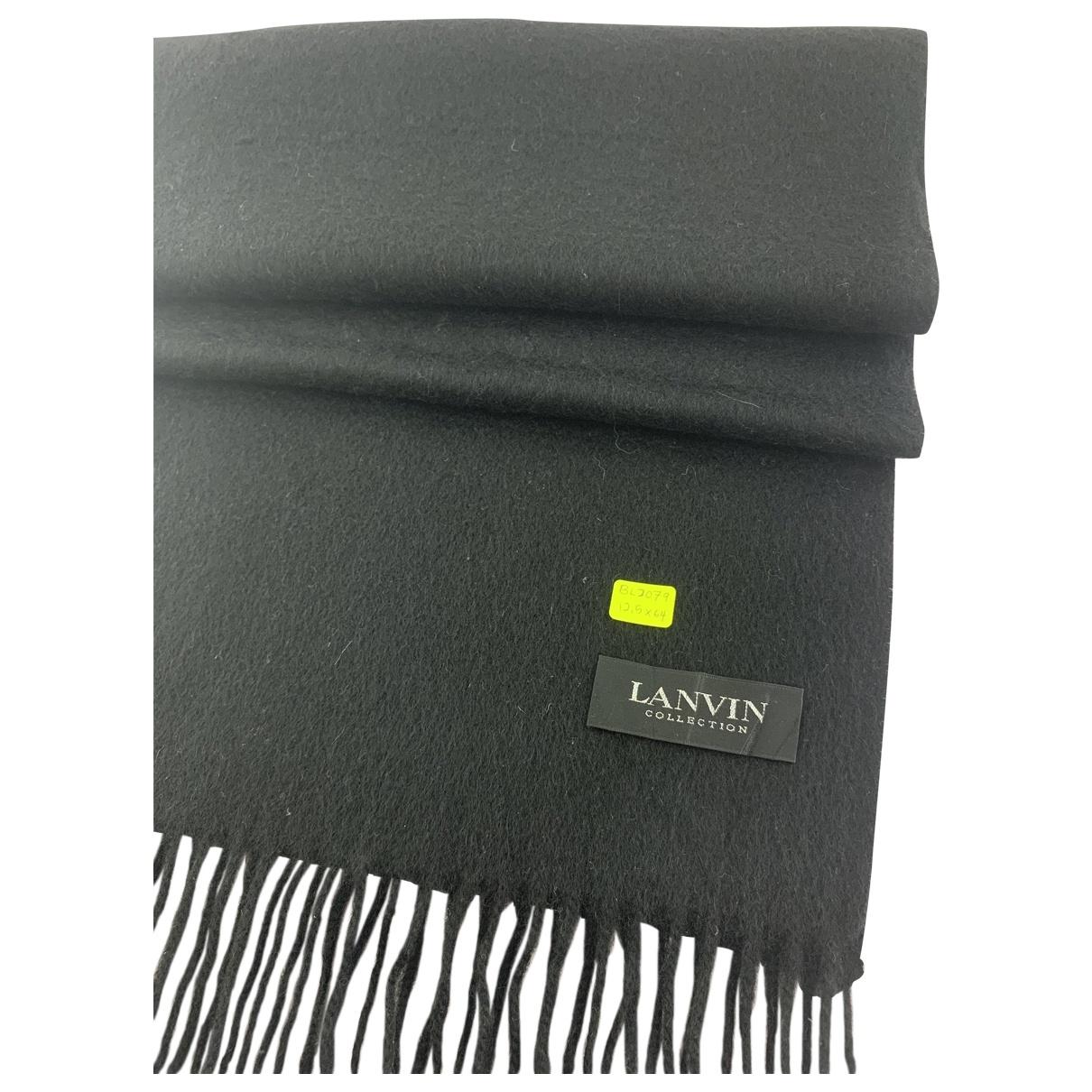 Lanvin \N Black Cashmere scarf & pocket squares for Men \N
