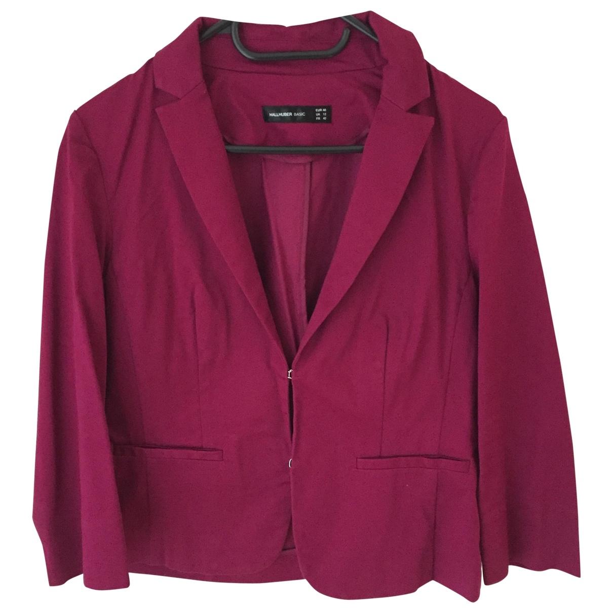 Hallhuber - Veste   pour femme en coton - violet
