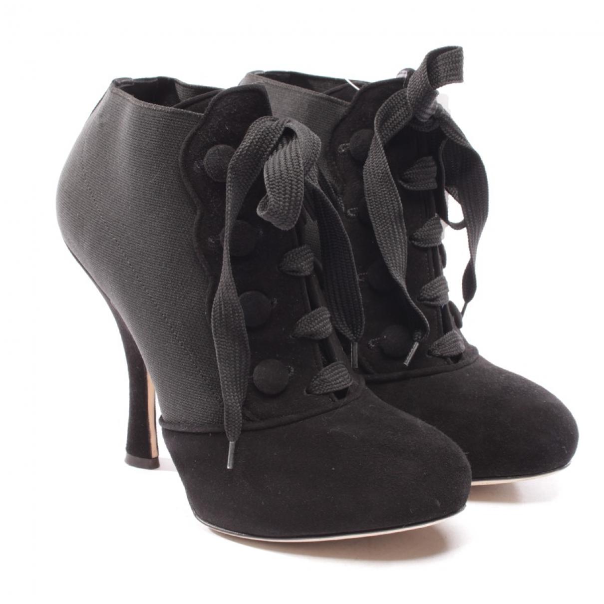 Dolce & Gabbana - Boots   pour femme en toile - noir