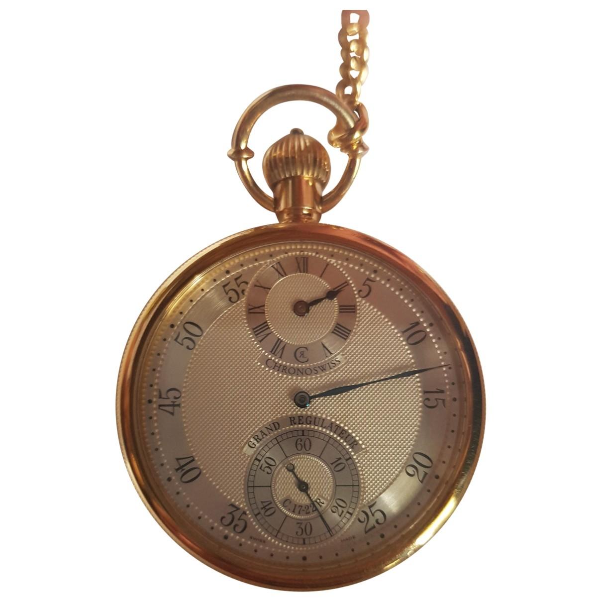 Chronographe Suisse \N Uhr in  Gelb Gelbgold