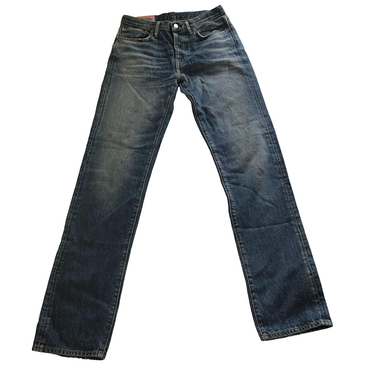 Acne Studios \N Blue Denim - Jeans Jeans for Women 38 FR