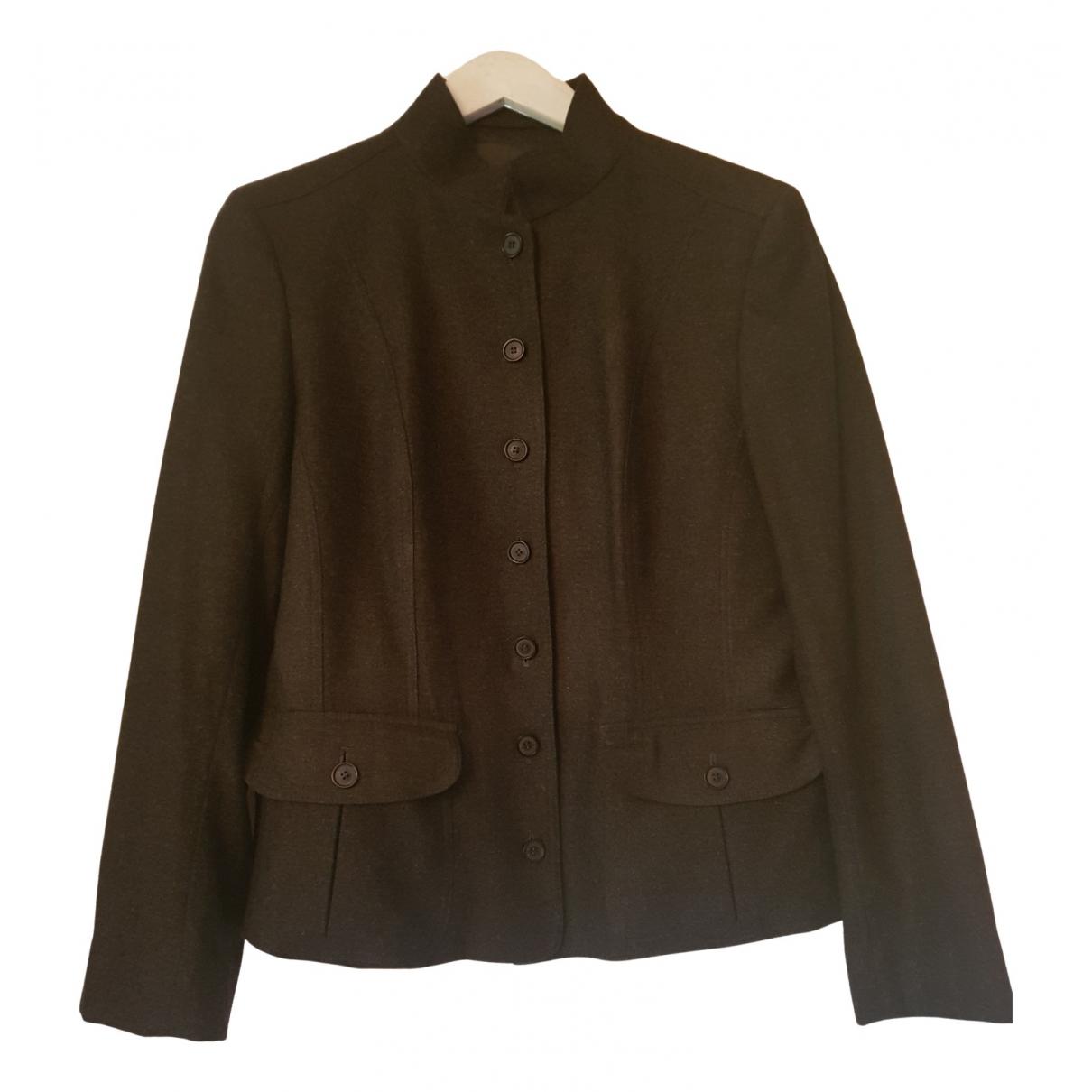 Burberry N Grey Wool jacket for Women 12 UK