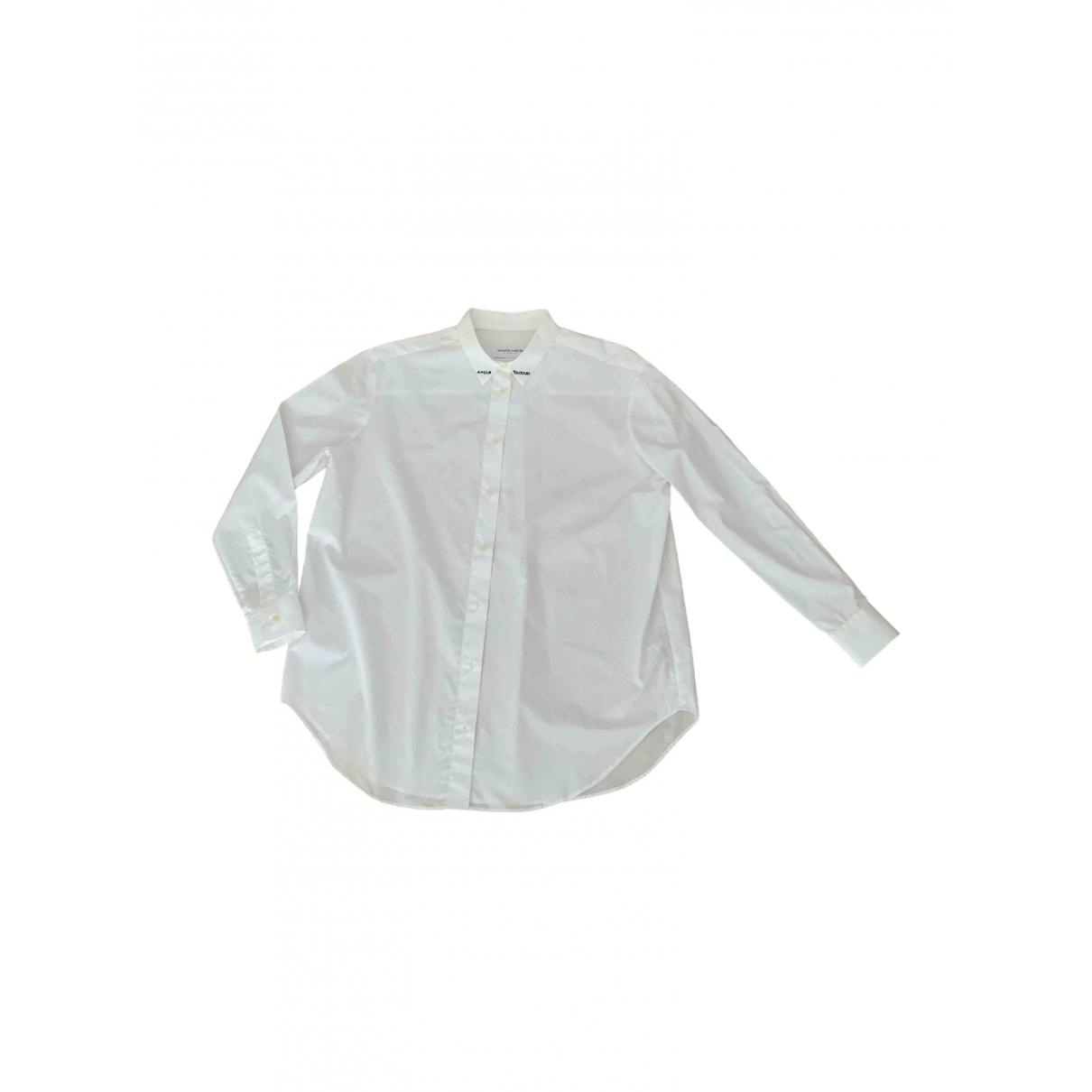 Maison Labiche - Top   pour femme en coton - blanc