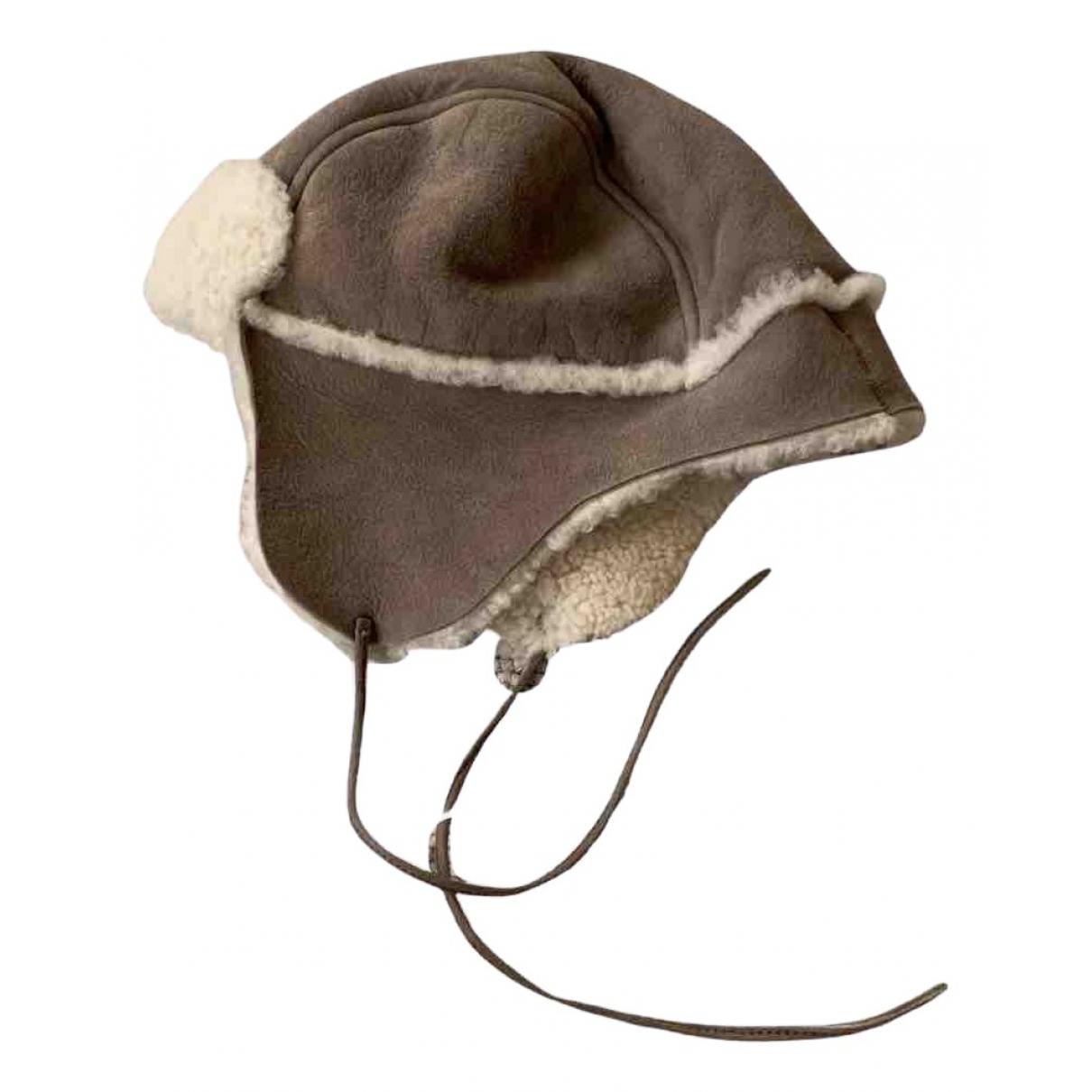 Bonpoint - Chapeaux.Bonnets.Gants   pour enfant en cuir - marron