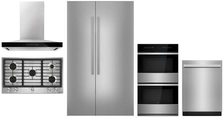 5 Piece Kitchen Appliances Package with 48